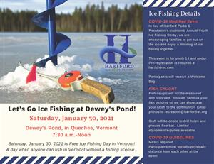 Let's Go Ice Fishing at Dewey's Pond
