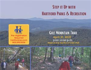 Step it Up with Hartford Parks & Recreation Gile Mountain Trail